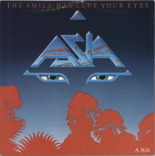 """Asia The Smile Has Left Your Eyes 7"""" vinyl single (7 inch record) UK ASI07TH520556"""