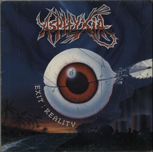Asphyxia Exit: Reality vinyl LP album (LP record) Belgian IU8LPEX649729