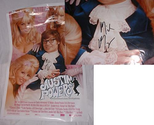 Austin Powers International Man Of Mystery - signed poster US AUWPOIN216738