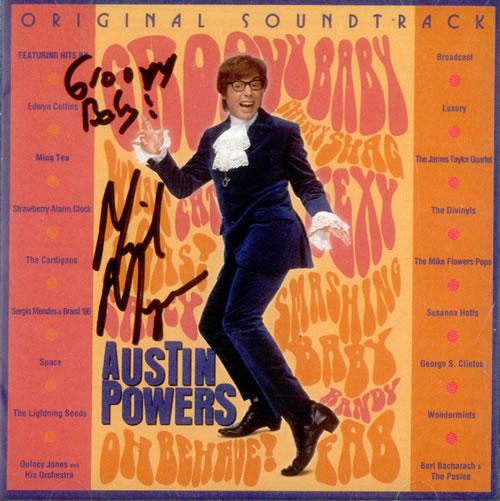 Austin Powers Original Soundtrack - Autographed CD album (CDLP) US AUWCDOR520981