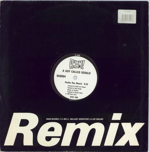 "A Guy Called Gerald Voodoo Ray - Remix die cut sleeve 12"" vinyl single (12 inch record / Maxi-single) UK AL412VO437956"