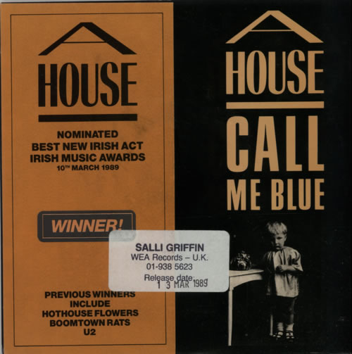 "A House Call Me Blue 7"" vinyl single (7 inch record) UK A-H07CA193509"