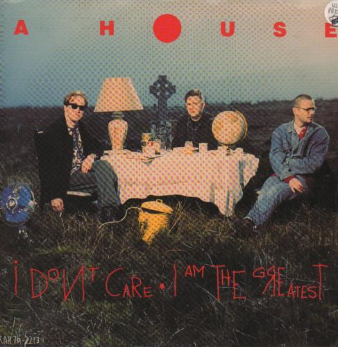 "A House I Don't Care - Red Vinyl + White Label 7"" vinyl single (7 inch record) US A-H07ID655155"