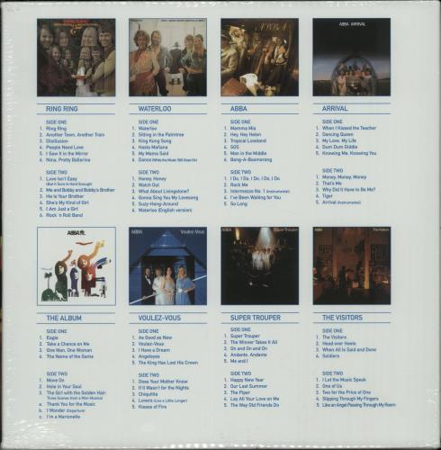Abba The Studio Albums - 180gm - Sealed Vinyl Box Set UK ABBVXTH08281