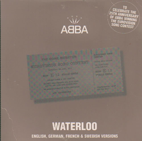"Abba Waterloo CD single (CD5 / 5"") UK ABBC5WA222750"