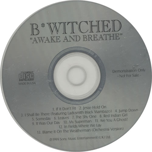 B*Witched Awake And Breathe CD album (CDLP) US B54CDAW147902