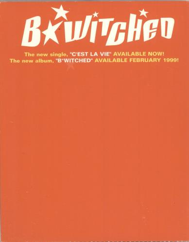 B*Witched B*witched - Header display card + Postcard display US B54DIBW133012