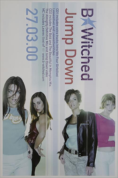 B*Witched Jump Down poster UK B54POJU455758