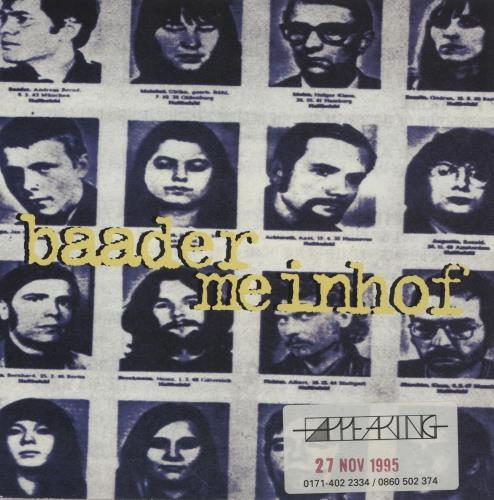 "Baader Meinhof Meet Me At The Airport 7"" vinyl single (7 inch record) UK BDQ07ME329819"