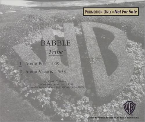 "Babble Tribe CD single (CD5 / 5"") US BABC5TR30632"