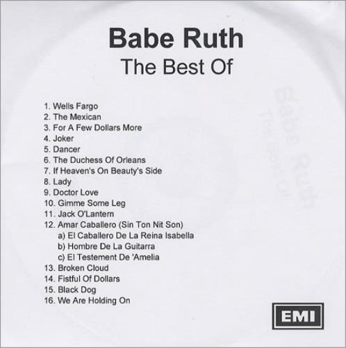 Babe Ruth The Best Of CD-R acetate UK HTUCRTH275508