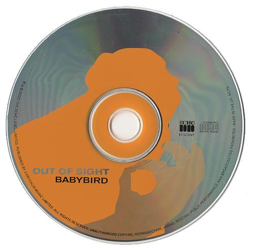 "Babybird Out Of Sight CD single (CD5 / 5"") UK BYBC5OU159582"