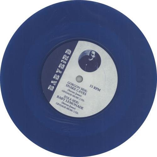 "Babybird Snakecaves - Blue vinyl 7"" vinyl single (7 inch record) UK BYB07SN75301"