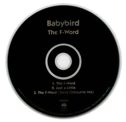 "Babybird The F-Word CD single (CD5 / 5"") UK BYBC5TH153340"