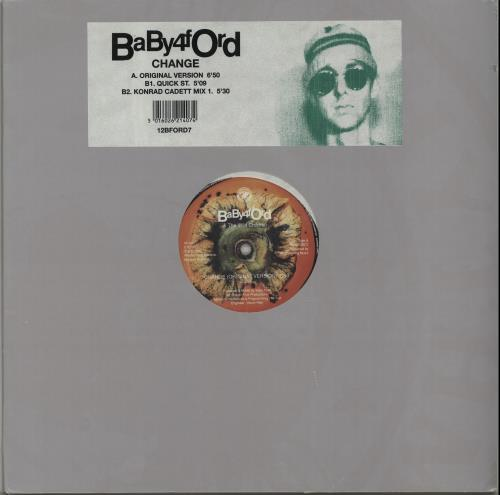 "Baby Ford Change 12"" vinyl single (12 inch record / Maxi-single) UK BBF12CH651596"