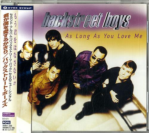 "Backstreet Boys As Long As You Love Me CD single (CD5 / 5"") Japanese BKBC5AS608937"