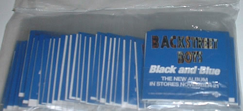 Backstreet Boys Black & Blue - tattoos memorabilia US BKBMMBL169622