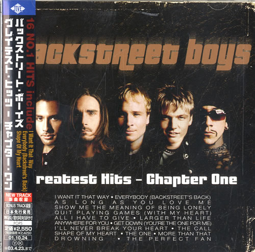 Backstreet Boys Greatest Hits - Chapter One CD album (CDLP) Japanese BKBCDGR580562