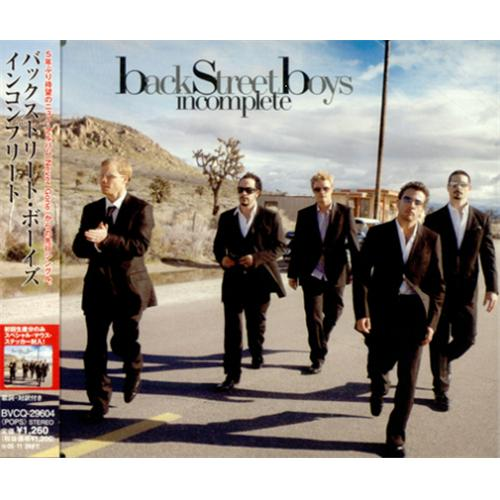 "Backstreet Boys Incomplete + Sticker CD single (CD5 / 5"") Japanese BKBC5IN421815"