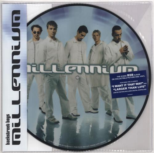 Backstreet Boys Millennium picture disc LP (vinyl picture disc album) UK BKBPDMI728122