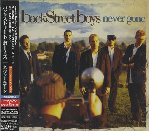 Backstreet Boys Never Gone 2-disc CD/DVD set Japanese BKB2DNE455282