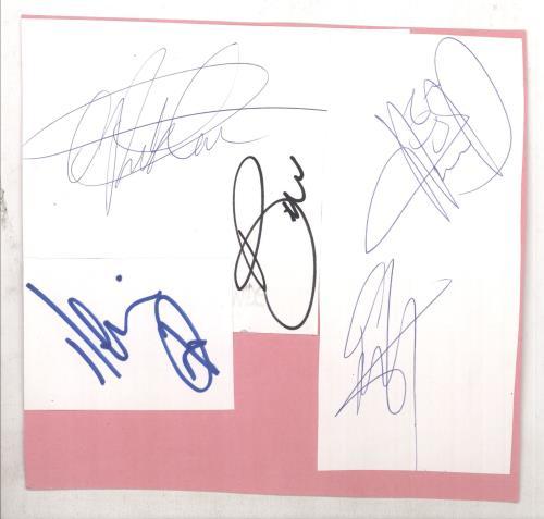 Backstreet Boys Set of Autographs memorabilia UK BKBMMSE733518