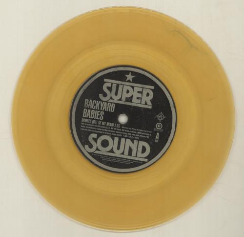 "Backyard Babies Bombed - Orange Vinyl - Numbered + Autographed Sleeve 7"" vinyl single (7 inch record) UK YRD07BO144506"