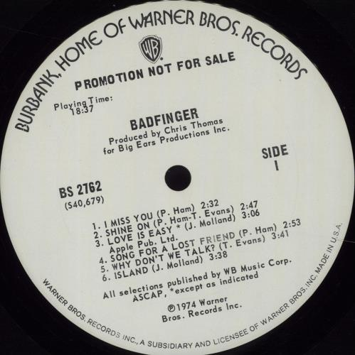 Badfinger Badfinger vinyl LP album (LP record) US BDFLPBA56878