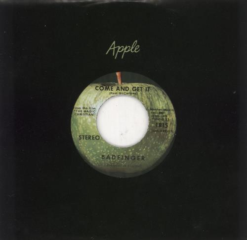 "Badfinger Come & Get It 7"" vinyl single (7 inch record) US BDF07CO58249"