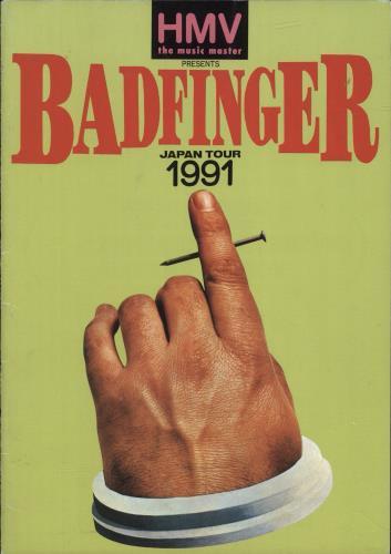 Badfinger Japan Tour 1991 tour programme Japanese BDFTRJA699793