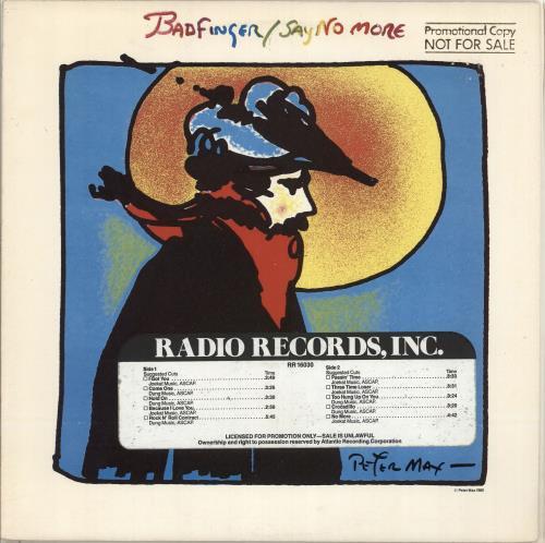 Badfinger Say No More - timing strip vinyl LP album (LP record) US BDFLPSA714308