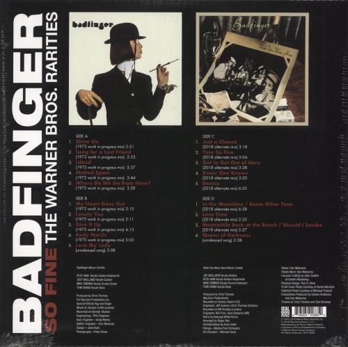 Badfinger So Fine: The Warner Bros. Rarities - RSD19 - Red Vinyl 2-LP vinyl record set (Double Album) UK BDF2LSO718531