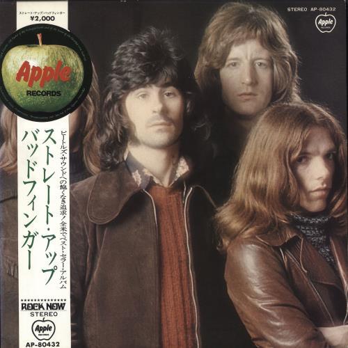 Badfinger Straight Up - Red Vinyl + Medallion Obi vinyl LP album (LP record) Japanese BDFLPST397878