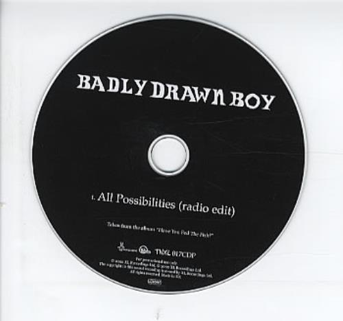 "Badly Drawn Boy All Possibilities CD single (CD5 / 5"") UK BDWC5AL240120"