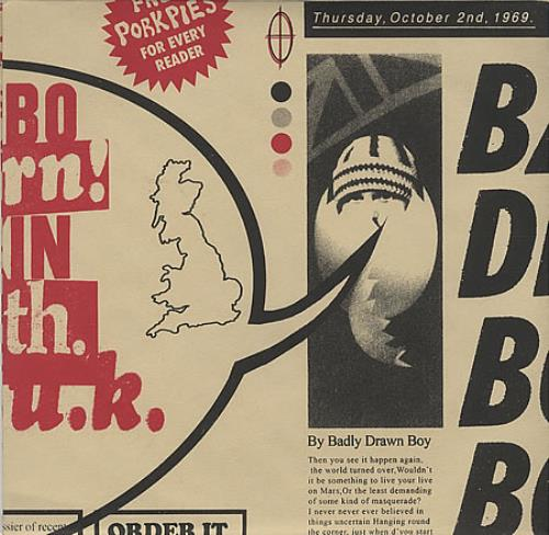 """Badly Drawn Boy Born In The UK - Red Packaging 7"""" vinyl single (7 inch record) UK BDW07BO395666"""