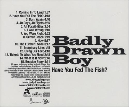Badly Drawn Boy Have You Fed The Fish? CD album (CDLP) US BDWCDHA227475