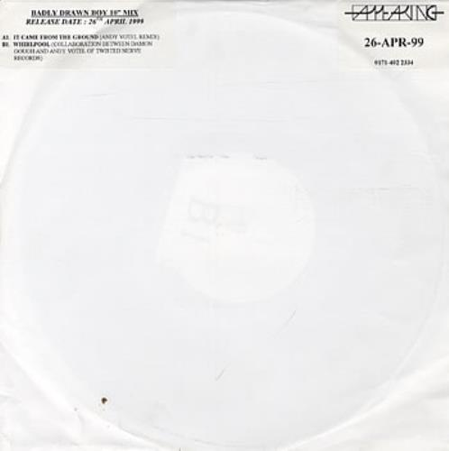 """Badly Drawn Boy It Came From The Ground 10"""" vinyl single (10"""" record) UK BDW10IT230925"""