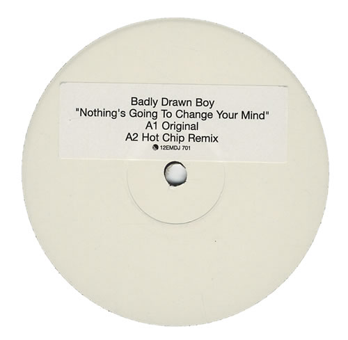 """Badly Drawn Boy Nothing's Going To Change Your Mind 12"""" vinyl single (12 inch record / Maxi-single) UK BDW12NO430122"""