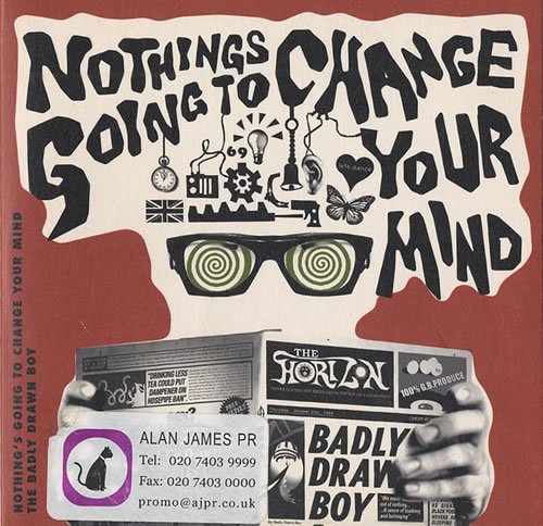 "Badly Drawn Boy Nothings Going To Change Your Mind CD single (CD5 / 5"") UK BDWC5NO446884"
