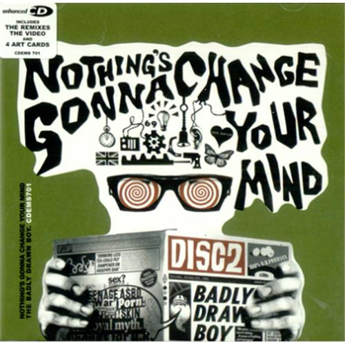 "Badly Drawn Boy Nothing's Gonna Change Your Mind - Part 2 CD single (CD5 / 5"") UK BDWC5NO420686"
