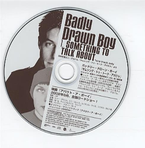 "Badly Drawn Boy Something To Talk About CD single (CD5 / 5"") Japanese BDWC5SO237129"