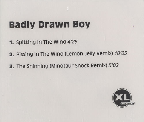 Badly Drawn Boy Spitting In The Wind CD-R acetate UK BDWCRSP227860