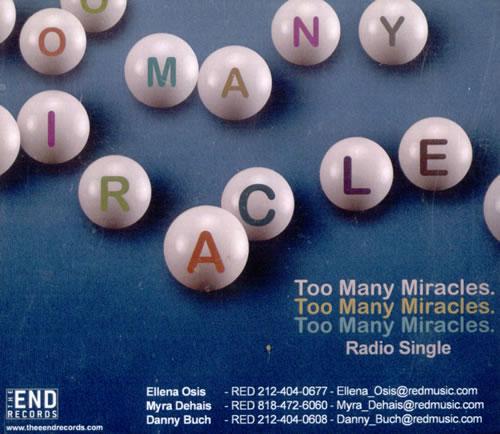 Badly Drawn Boy Too Many Miracles CD album (CDLP) US BDWCDTO526629