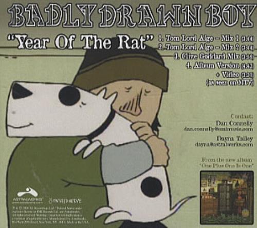 "Badly Drawn Boy Year Of The Rat CD single (CD5 / 5"") US BDWC5YE324285"