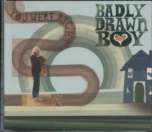 """Badly Drawn Boy You Were Right CD single (CD5 / 5"""") UK BDWC5YO224764"""