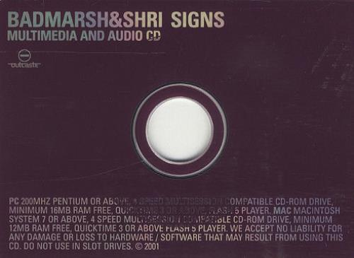 Badmarsh & Shri Signs CD-ROM UK HRIROSI207735