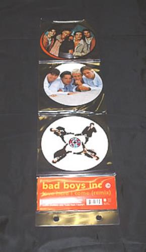 """Bad Boys Inc Love Here I Come - Pack 7"""" vinyl picture disc 7 inch picture disc single UK BBI7PLO51914"""