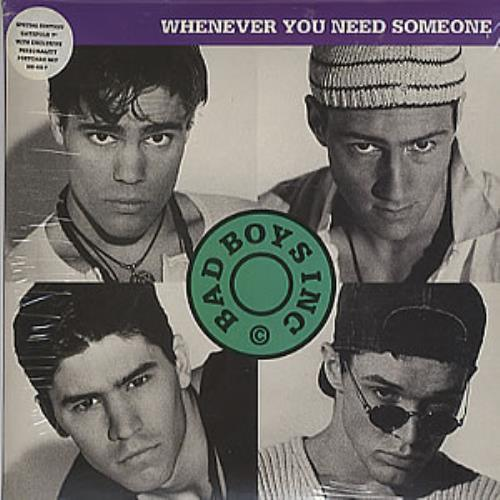 """Bad Boys Inc Whenver You Need Somebody - Postcard Pack 7"""" vinyl single (7 inch record) UK BBI07WH51911"""