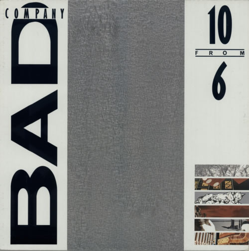 Bad Company 10 From 6 vinyl LP album (LP record) Canadian BCOLPFR597867
