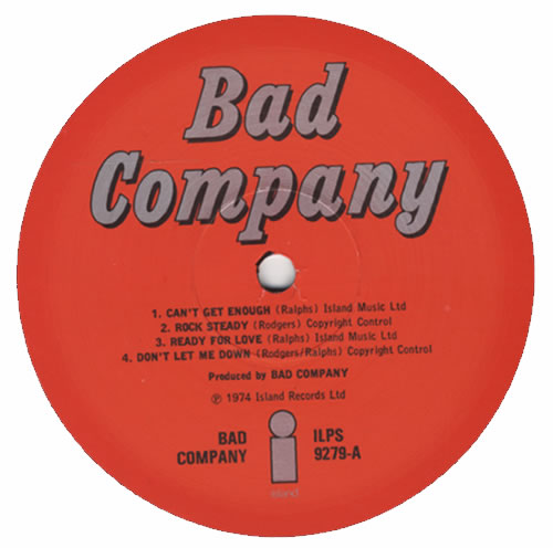 Bad Company Bad Company - 1st vinyl LP album (LP record) UK BCOLPBA600519